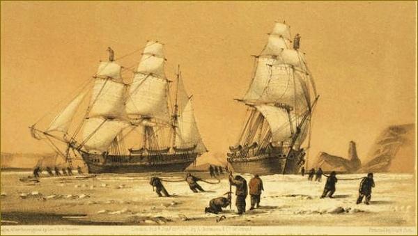 Enterprise a Investigator v zajetí ledu
