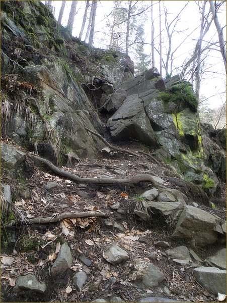 Řetězy přes skalní výšvih