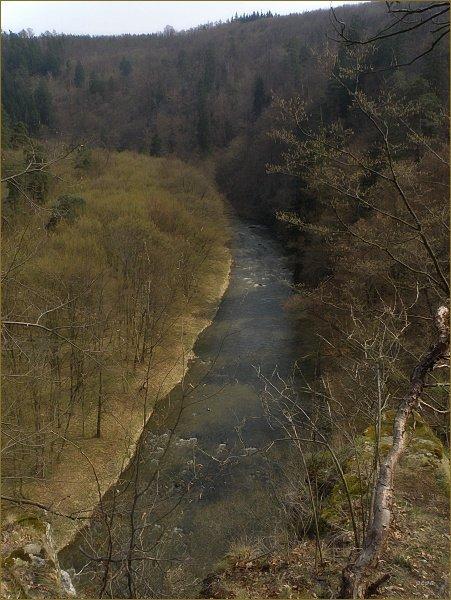 Pohled z Lamberka do údolí Oslavy