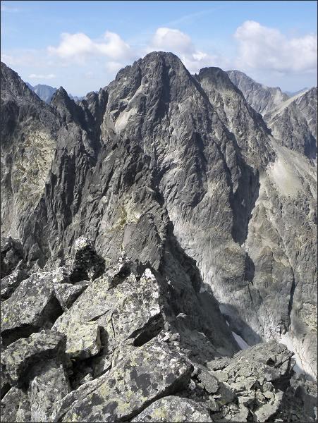 Posledná veža, Pyšný štít, Loktibrada a Malý Pyšný štít z M. Kežmarského štítu