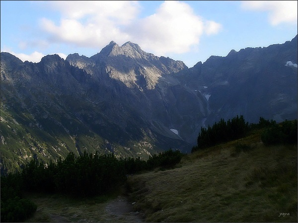 Malé Rysy a Rysy nad Dolinou Rybiego Potoku
