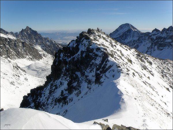 Malý Svišťový štít a Predná Svišťová priehyba