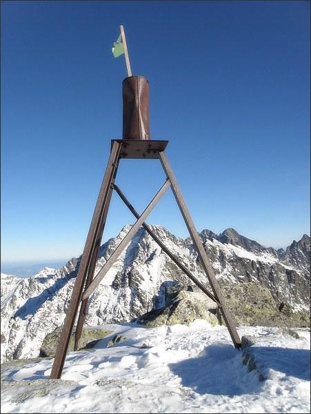 Triangulační bod na Malom Svišťovom štíte