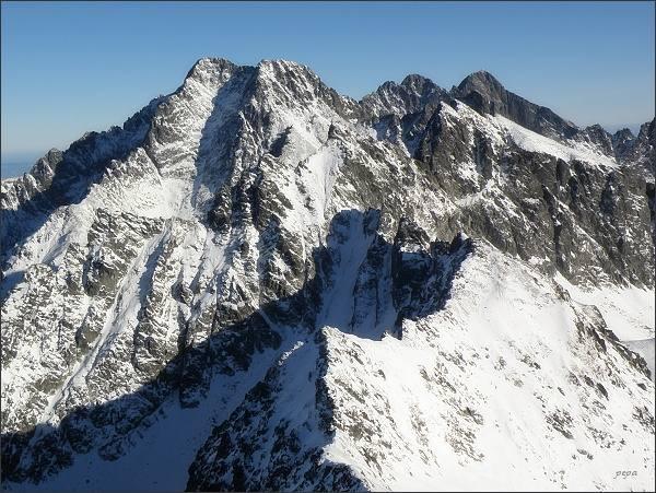 Ľadové štíty, Pyšné štíty a Lomnický štít ze Svišťového štítu