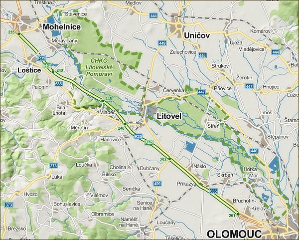 Litovelské Pomoraví, mapa
