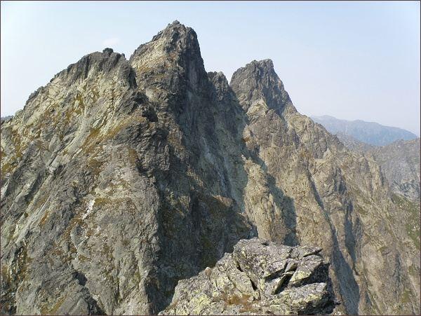 Západný Železný štít, Zlobivá, Rumanov štít a Ganek z Prostrednej Snežnej kopy