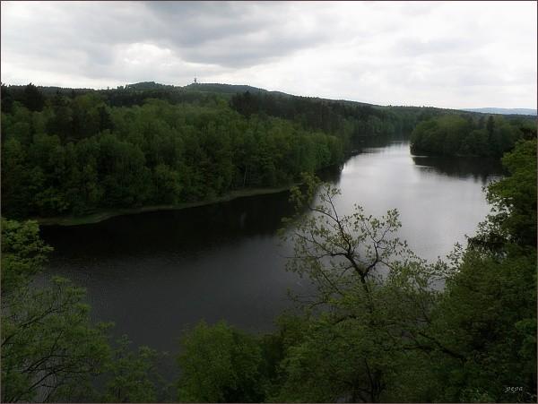 Cheb, přehrada Skalka
