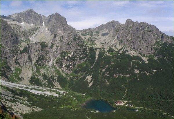 Dolina Zeleného plesa, Malá Zmrzlá dolina a Červená dolina z Nemeckého rebríka