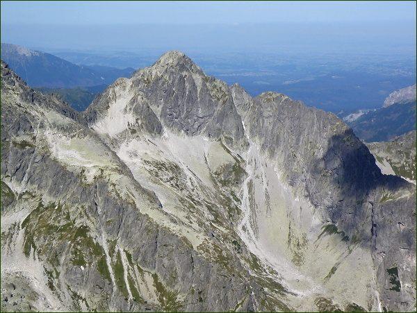 Malá Zmrzlá dolina, Kolový štít a Karbunkulový hrebeň z Malého Kežmarského štítu