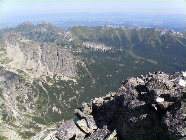 Dolina Bielej Kežmarskej vody a Belianske Tatry z Malého Kežmarského štítu