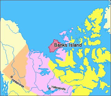 Banksův ostrov, mapa