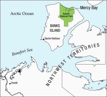 Bay of Mercy, vyznačení místa na dnešní mapě