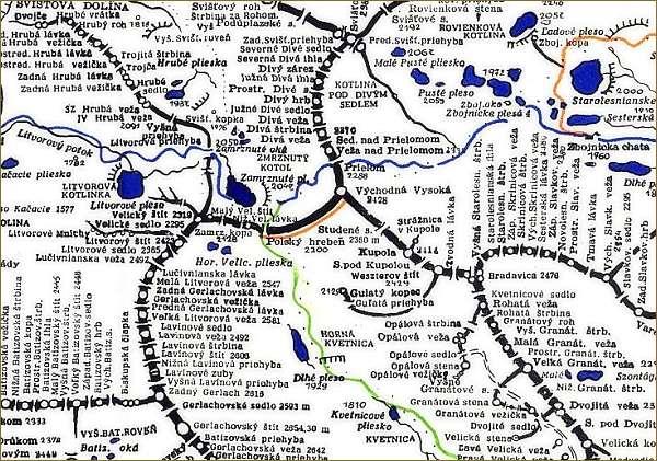 Východná Vysoká, mapa