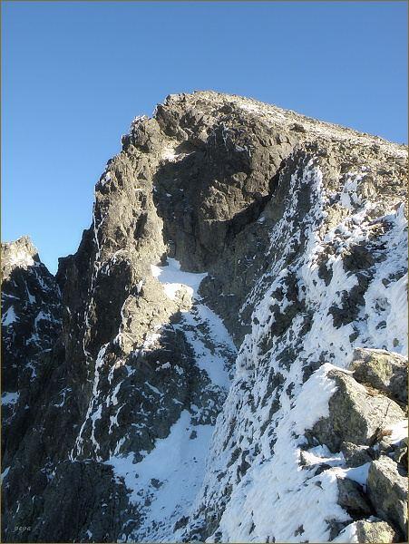 Východná Vysoká ze značené turistické cesty k vrcholu