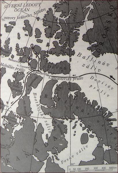 Franklinova expedice,mapa 2