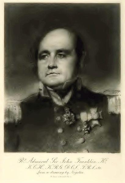 Sir John Franklin (dobový portrét)