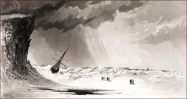 Advance v Rensselaerově přístavu (E. K. Kane)