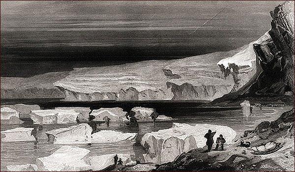 Okraj Humboldtova ledovce (E. K. Kane)