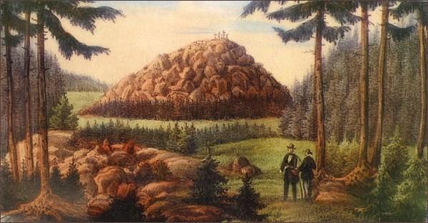 Historický obrázek s bezlesou Podhorou