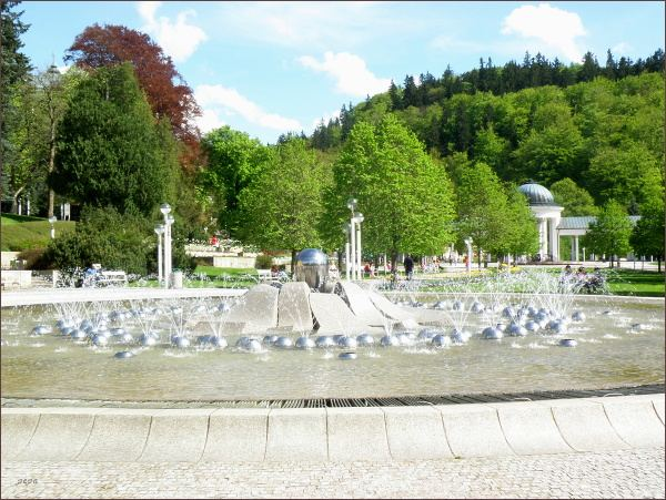 Mariánské Lázně, Zpívající fontána