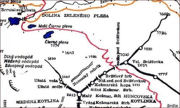 Veľká Svišťovka, mapa
