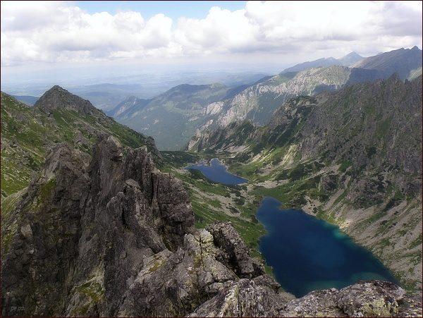 Žabia Bielovodská dolina a Žabie Bielovodské plesá  ze Žabieho Mnícha