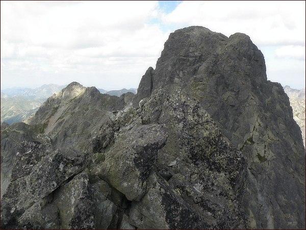 Čubrina a Veľký Mengusovský štít z Prostredného Mengusovského štítu
