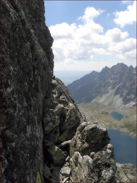 Lišta na Prostredný Mengusovský štít (uprostřed snímku)
