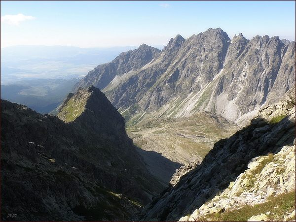 Mengusovská dolina z Východného Mengusovského sedla