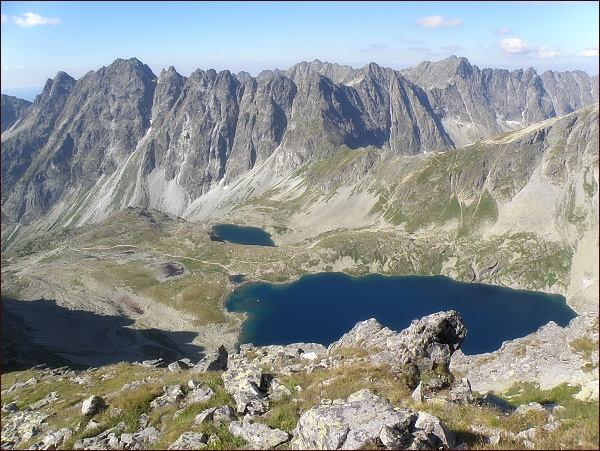 Mengusovská dolina a Hincove plesá z Východného Mengusovského štítu