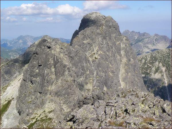 Prostredný a Veľký Mengusovský štít z Východného Mengusovského štítu