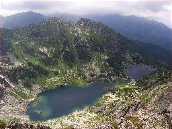Žabia Bielovodská dolina z Mlynára. Žabie Bielovodské plesá, Malý Žabí štít a Žabia kopa