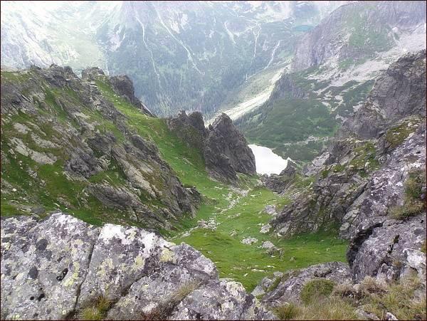 Pohled od Mlynárovho sedla do Ťažkej doliny