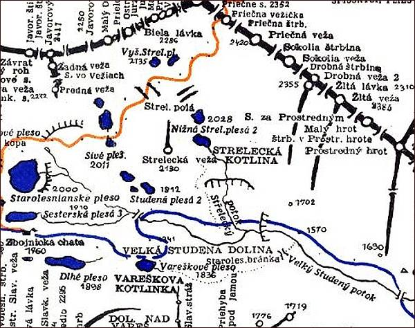 Strelecka, mapa
