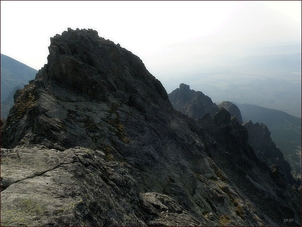Bradavica. Jihozápadní vrchol ze západního