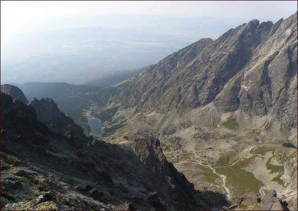 Velická dolina z Bradavice (dole Velické pleso)