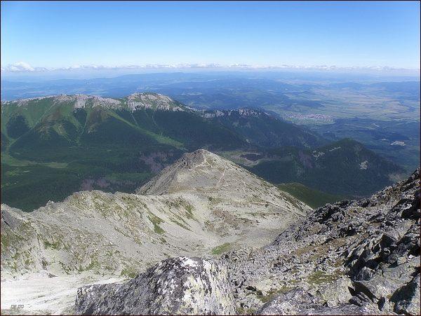 Veľká Svišťovka  a Belianske Tatry z Huncovského štítu