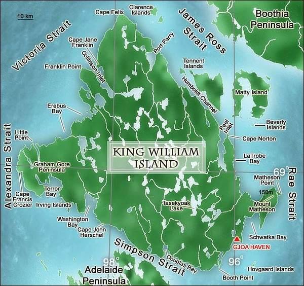 Ostrov Krále Williama, mapa