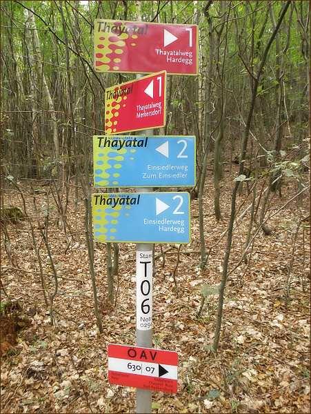 Turistické značení v národním parku  je dokonalé