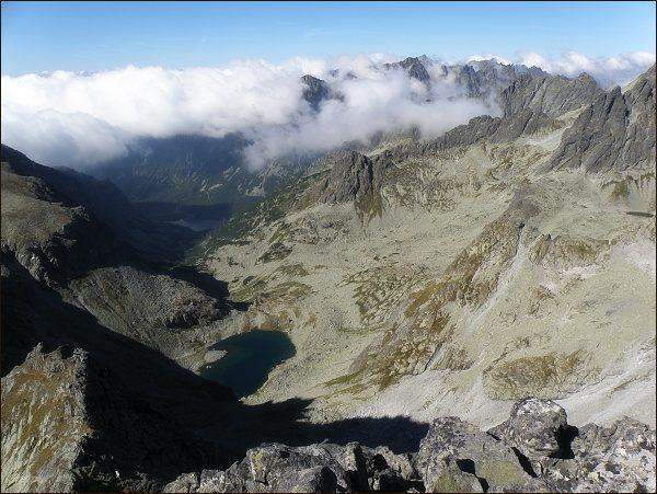 Dolina Zlomísk z Popradského Ľadového štítu