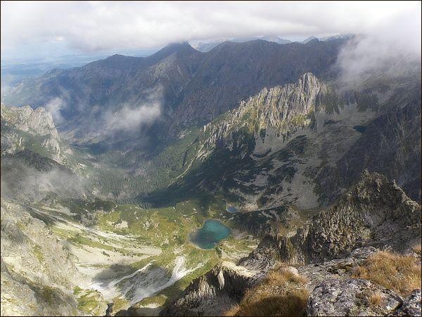 Kačacia dolina a Bielovodská dolina ze Západného Železného štítu