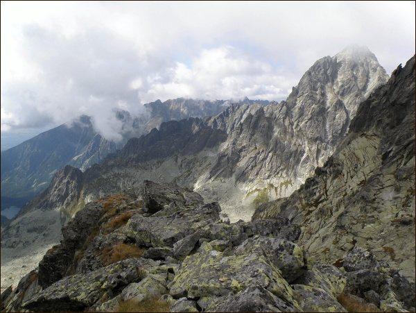 Rumanova dolinka a Vysoká ze Západného Železného štítu
