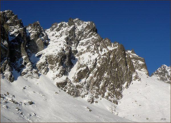 Prostredný hrot nad Malou Studenou dolinou