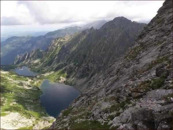 Žabia Bielovodská dolina, Žabie Belovodské plesá a Mlynár  z Veľkého Žabieho štítu