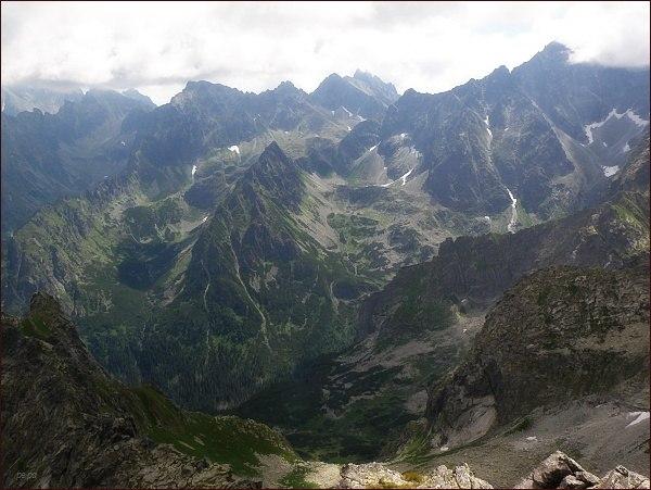 Bielovodská dolina (nejvyšší patra) z Veľkého Žabieho štítu