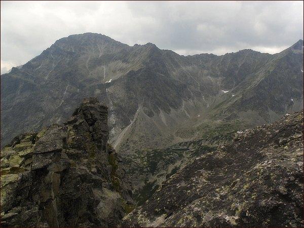 Slavkovský štít a Vareškový hrebeň ze Streleckej veže