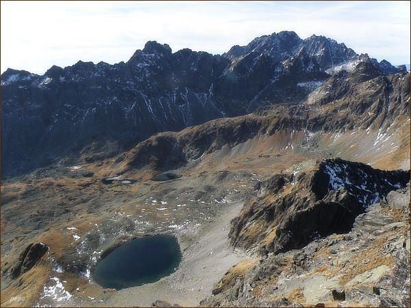Ľadové pleso a Veľká Studená dolina Z Malého Javorového štítu
