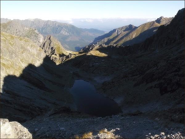 Zamrznutý kotol a Bielovodská dolina z Poľského hrebeňa