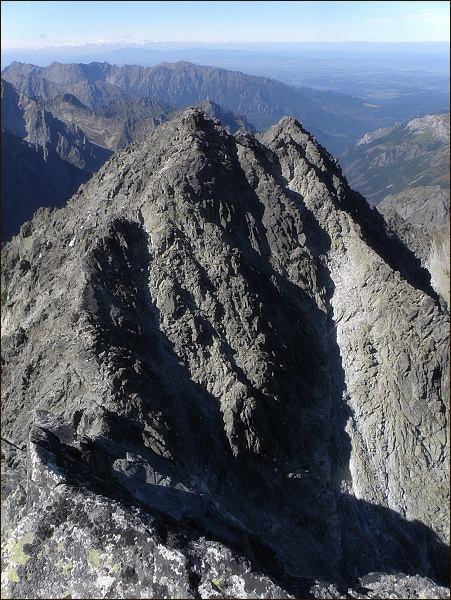 Zadný Gerlach, Lavínová veža a Lavínový štít z Gerlachovského štítu