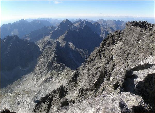 Pohled z Gerlachovského štítu k severozápadu
